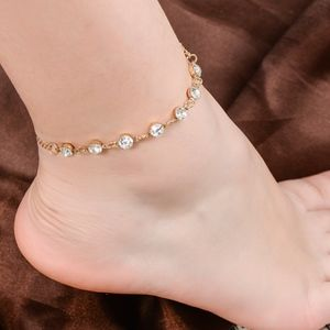 Jewelry - Gold Anklet Crystal Coin Ankle Bracelet
